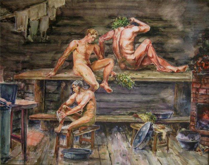 билан видео женщины моются в бане начать