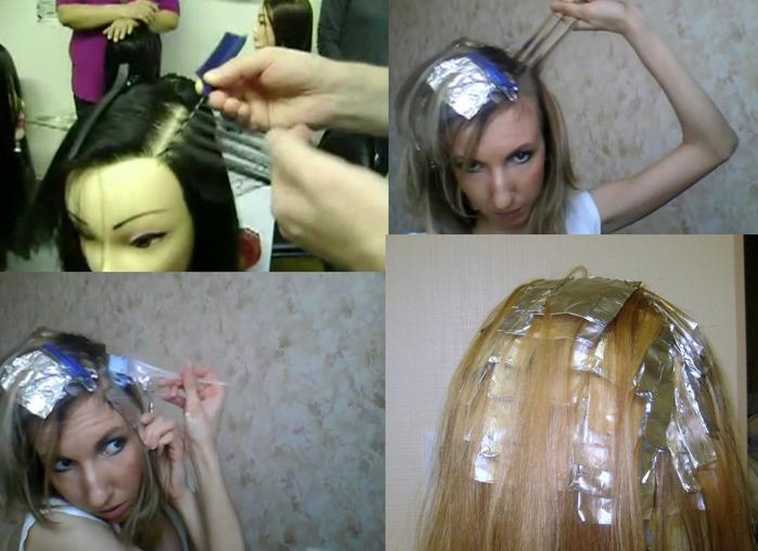 Необычно и просто: мелирование волос в домашних 51