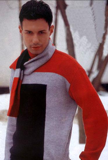 вязанные свитера для мужчин спицами со схемами.