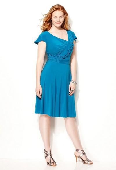 Нарядные платья для полных женщин от Avenue.  Осень-зима 2011-2012.
