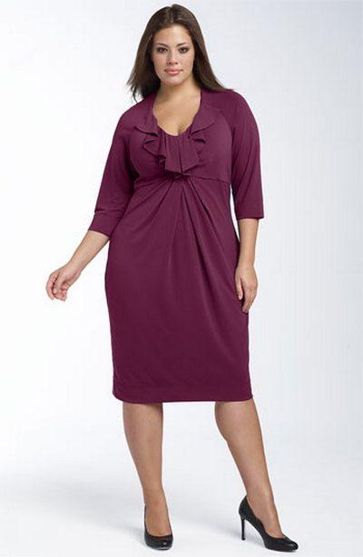 I Wish I Knew - Мода для полных женщин, трикотажные платья.