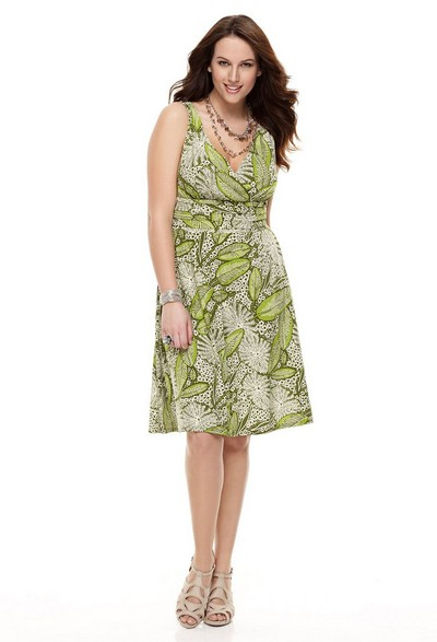 Платья трикотажные для полных 2012.