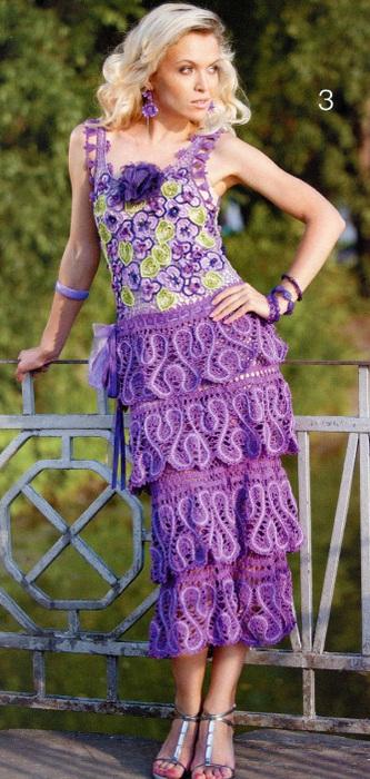 пляжное платье вязанное крючком - Сумки.