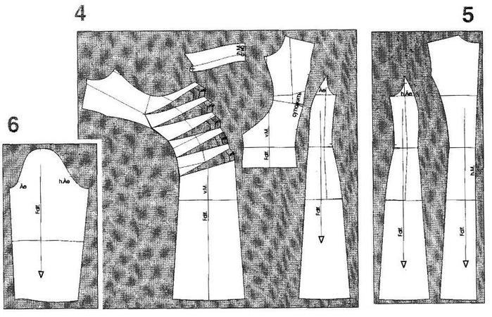3. Прилегаюшее платье с драпировкой.  1. Платье моделируем на основе...