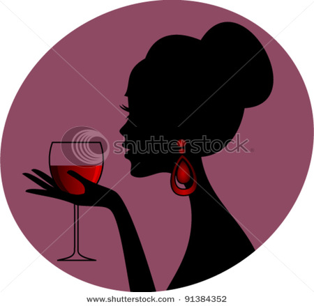 stock-vector-beautiful-female-silhouette-holding-a-glass-of-red-wine-91384352 (450x439, 34Kb)