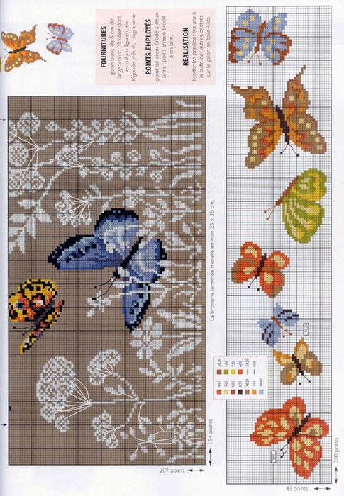 Вышивка с бабочками фото 11
