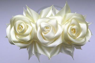 роза из атласной ленты своими руками.