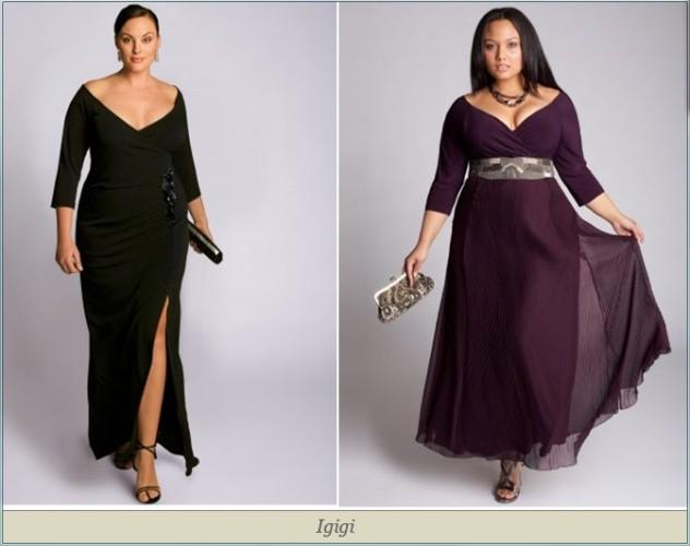 Платья для полных женщин 2012.