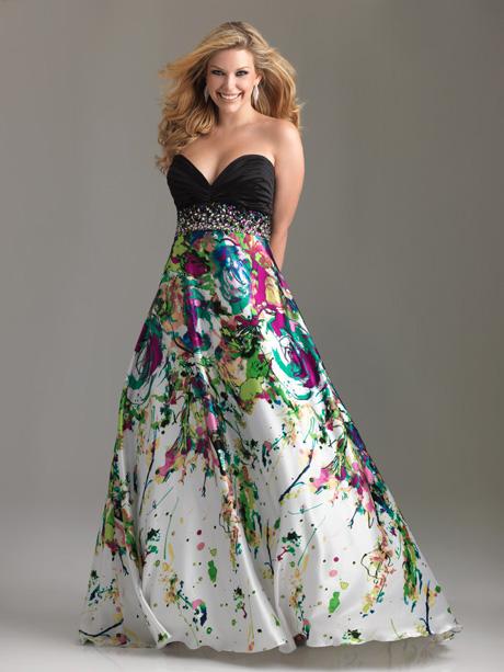 Модные платья для полных 2012 фото.
