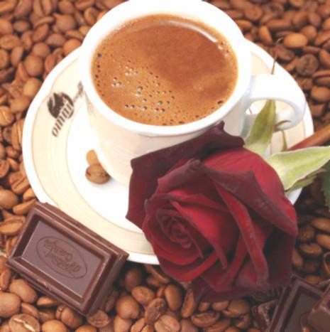 кофе и роза в постель фото