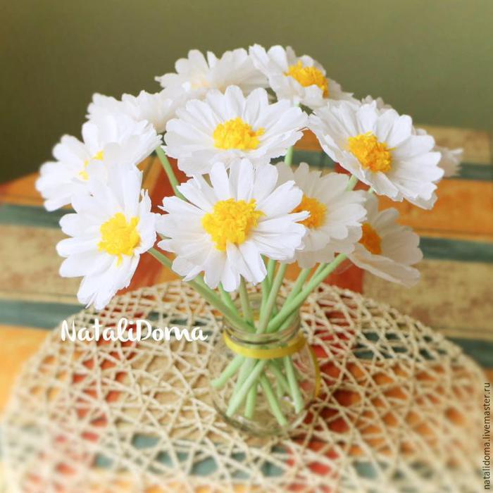 Цветок маргаритка сделать