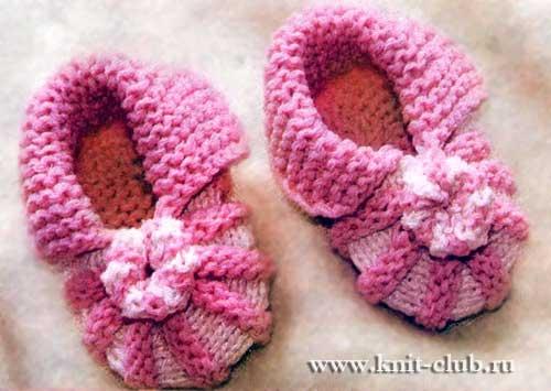 пинетки спицами для новорожденных самое интересное в блогах