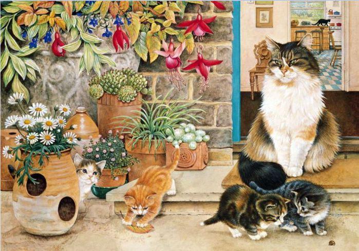 картинки для детей кошка и котята