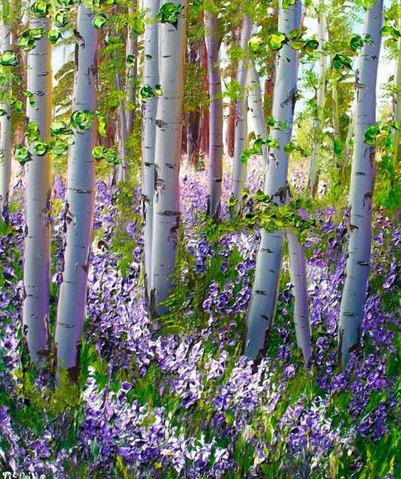 Katherine McNeill's Brilliance of Lupine (586x700, 120Kb)