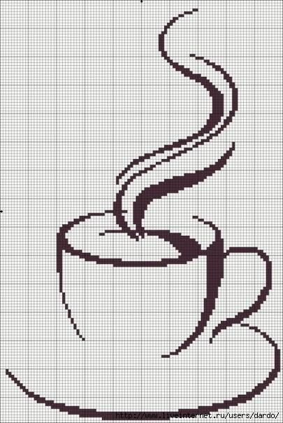 Схема для вышивки крестиком кофе 39