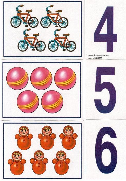 цифра и количество предметов картинки цветные нас