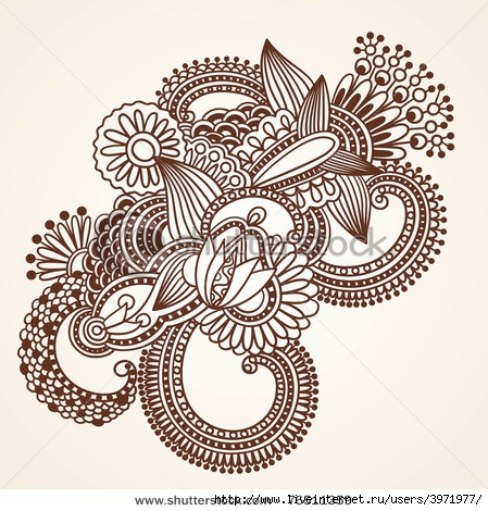 3971977_stockphotohanddrawnabstracthennamendieflowersdoodledesignelement76511359 (449x470, 181Kb)