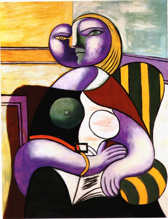 Picasso La lecture. 2-January 1932. 130 x 97 cm. Oil on canv (537x700, 288Kb)