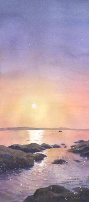 Заходящее солнце (288x650, 140Kb)