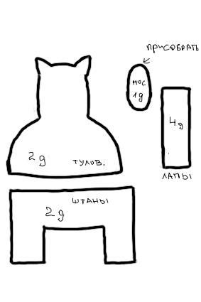 выкройки мягких игрушек кот гарфилд - Выкройки одежды для детей и...