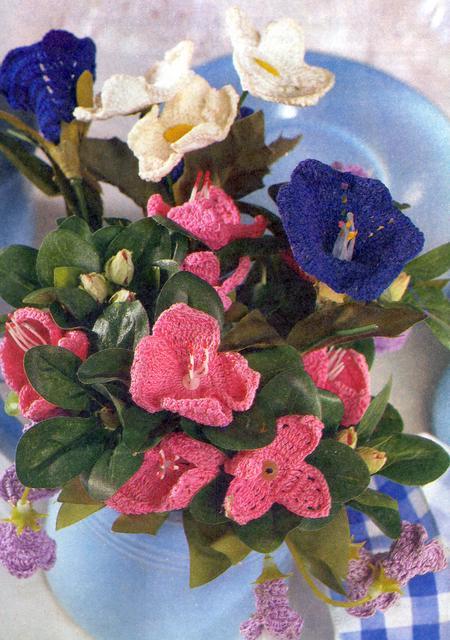 Схема объемного цветка крючком фото 484