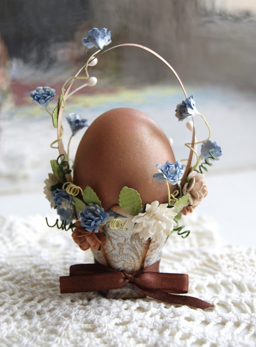 корзинка для яиц, скрап, пасха