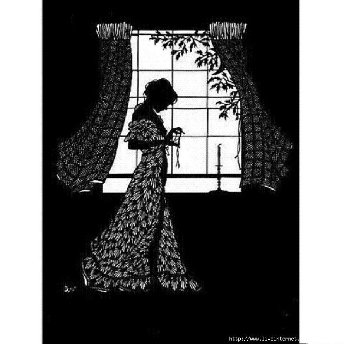 Вышивание белым по чёрному