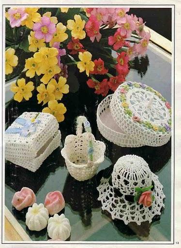 Вязание крючком:вазочки, шкатулки, коробочки.  Урок Вязание крючком...