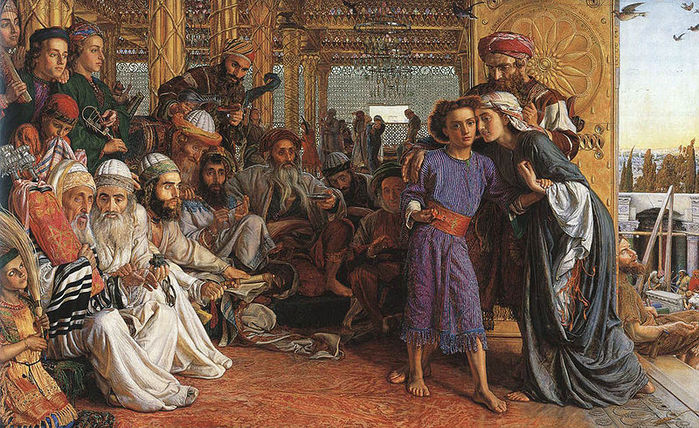 Уильям Холман Хант(William Holman Hunt) 3166706_800pxWilliam_Holman_Hunt__The_Finding_of_the_Saviour_in_the_Temple (800x500, 134Kb)