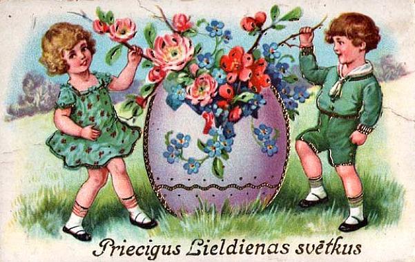 Пасхальные открытки латвийские, анимация настроение