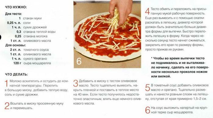 Легкое тесто для пиццы на кефире
