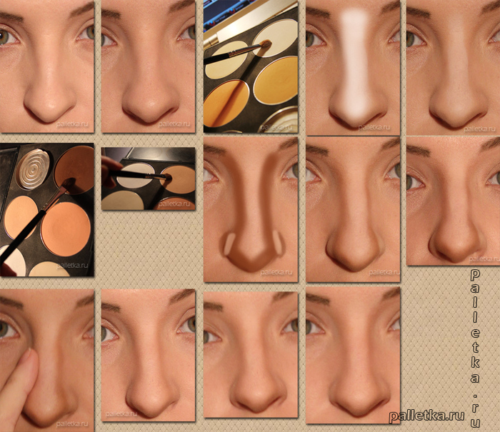 nose makeup tutorial (700x605, 267Kb)