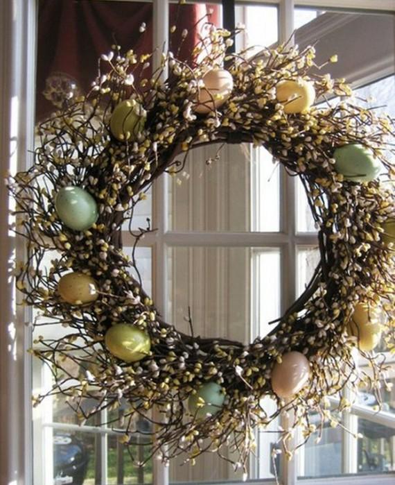 Красивые пасхальные композиции для украшения интерьера к празднику 76 (570x700, 127Kb)