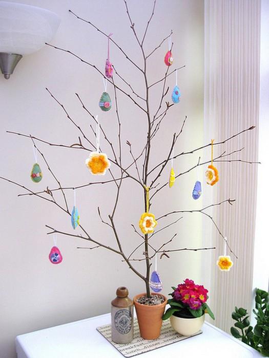 Красивые пасхальные композиции для украшения интерьера к празднику 129 (525x700, 82Kb)