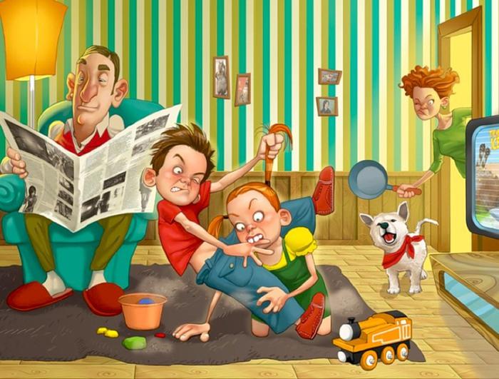 Картинка прикольная семьи, открытки