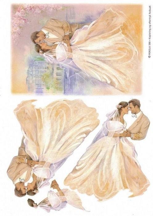 Свадебная тематика картинки для декупажа