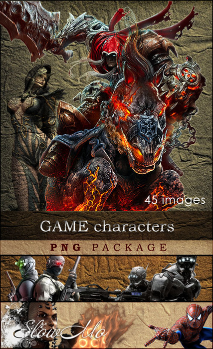 SlowMo, PNG, Game, Games, NPC, Characters, Monsters, Fighters, 3D, Creatures, Solders, Images, Clipart, Без фона, Картинки, Клипарты, Персонажи, Из игр, Игры, На прозрачном фоне, Бойцы, боссы, Из игр, Art, Монстры, Герои, Persons/1334247112_Players_Cover (427x700, 197Kb)