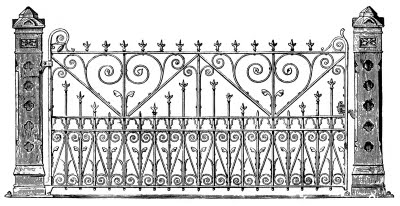 Iron gate vintage image graphicsfairy005b (400x206, 29Kb)