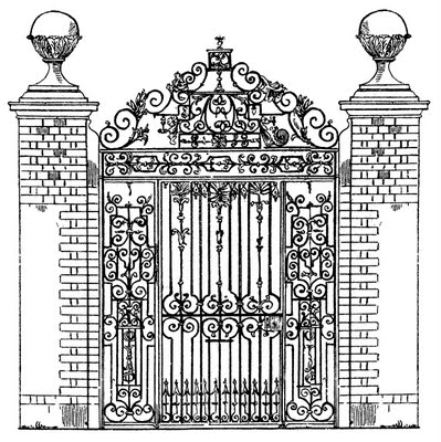 iron gate vintage graphicsfairy012b (399x400, 64Kb)