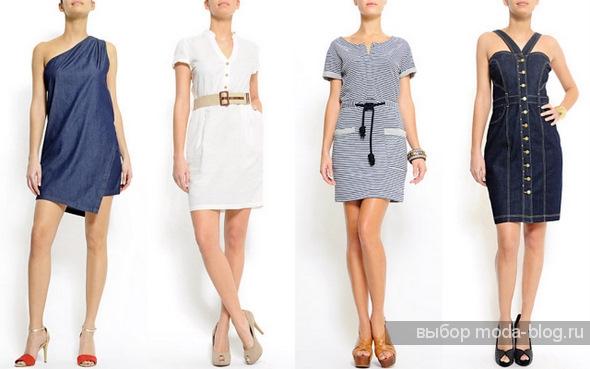 Платья-рубашки, спорт-стиль, джинсовые платья от Манго.