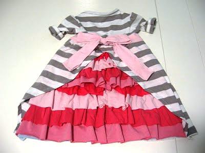 Платье из футболки для девочки своими руками