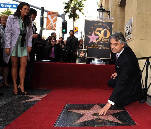 Андреа Бочелли - итальянский оперный певец, удостоен звезды на Аллее Славы в Голливуде