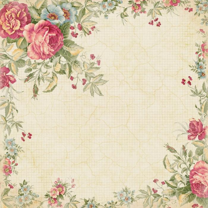 Красивая бумага-2. Винтажный фон с розами. Обсуждение на ... Фон Для Открытки Винтаж