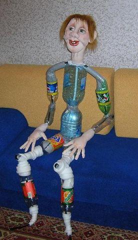 Как можно сделать куклу из пластиковой бутылки 296