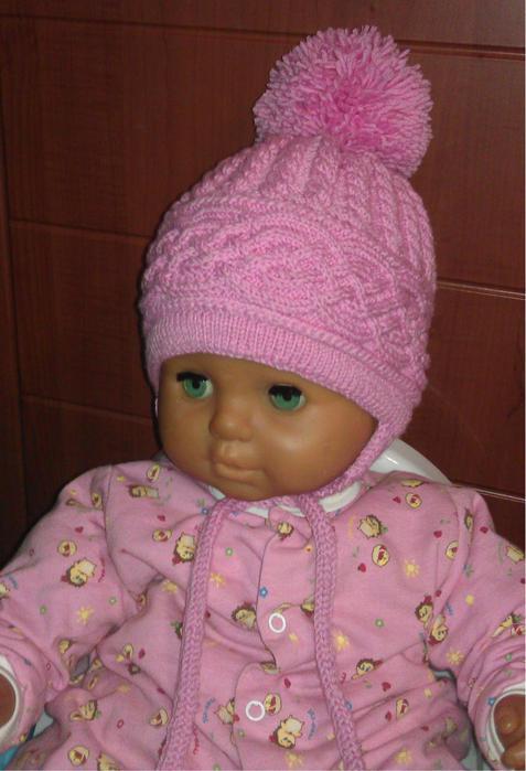 Вязание детская шапочка волан