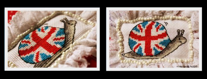 """...в пайетках  """"под британский флаг ... ансамбле с клатчем из Accessorize."""