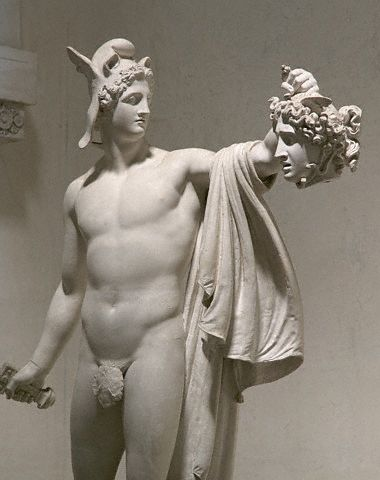 canovas perseus with head of medusa essay The statue shows the triumphant perseus holding the severed head of the medusa, one of the three gorgons the hero is shown with the winged cap, the sandals of mercury and the sword which had been given to him in order to complete this task.