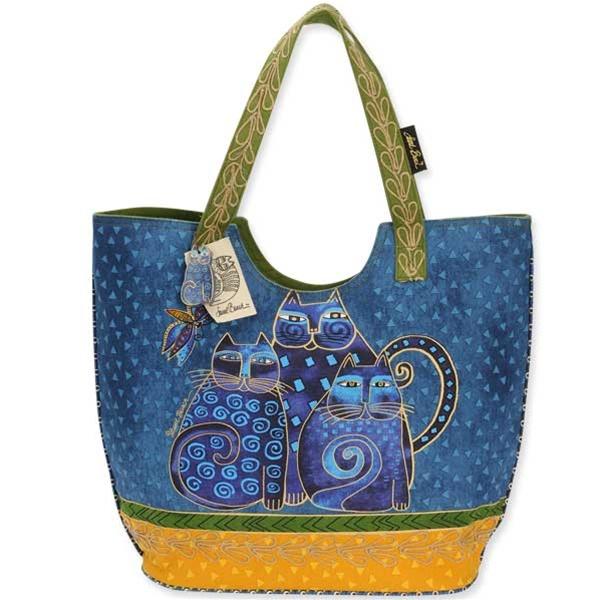 Дизайнерская сумка Laurel Burch - Indigo Cat Family large.