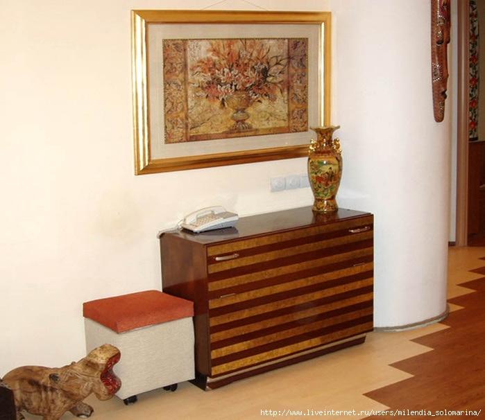 переделка старья обновление советской полированной мебели идеи