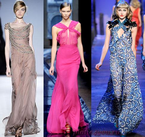 Как сшить шифоновое платье; Шифоновое платье в пол ... платье своими...